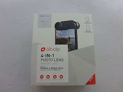 Olloclip Iphone 6 6s 6 Plus 4 In 1 Lens Macro Fish Eye Wide Angle - Silver White