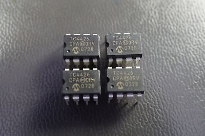 Lot of 2 TC4426CPA Microchip Dual High Speed Power MOSFET Driver 1.5A 8 Pin PDIP