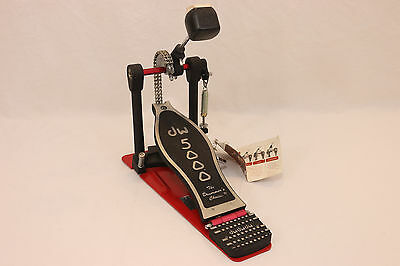 DW 5000 Drum Workshop Kick Drum Bass Pedal Double Chain Drive RED 5000 Series
