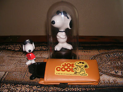 "Snoopy Joe Cool"" Figure 3pcs. Collection Peanuts Figurines with Glasses Lot"