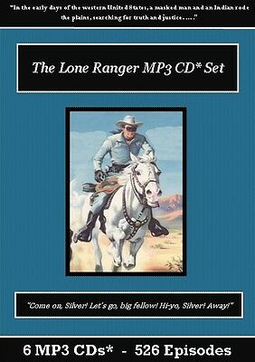 The Lone Ranger Old Time Radio Show MP3 CD Set