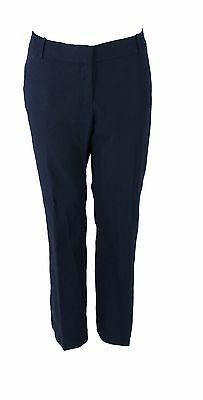 New With Tags Women's J CREW Navy Blue 100% Cotton Dress Pants Size 14