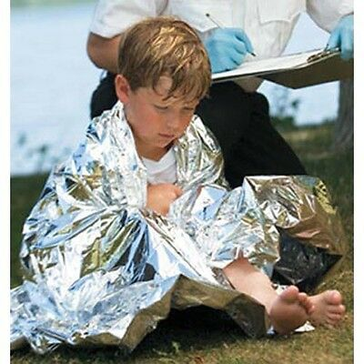"Hypothermia Blanket, Material - Mylar, 52"" x 84"", Individually Packaged in Po..."