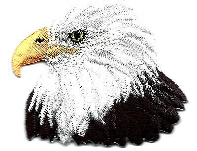 BALD EAGLE HEAD-AMERICAN EAGLE-BIRD-PATRIOTIC-USA/Iron On Embroidered Patch