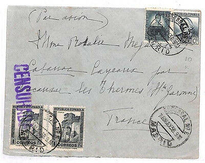 GG189 1938 Spain Madrid France Cover {samwells-covers}PTS