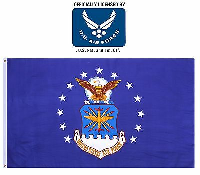 United States Air Force Polyester Flag - 5' USAF Licensed Hanging Flags