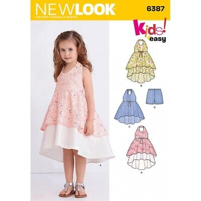 New Look Child's Dress, Tunic and Shorts Sewing Pattern 6387
