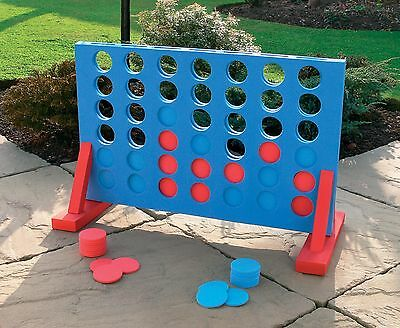 Extra Large 71Cm 4 In A Row Giant Connect Garden Outdoor Game Kids Adults Party