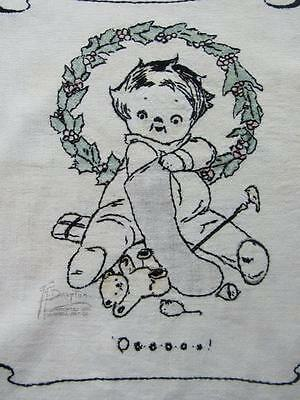 G.G. Drayton Campbell's Soup Kid Embroidered Pillow Cover Campbell Art Co. 1912