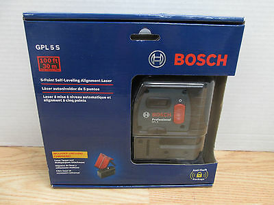 NEW Bosch GPL 5 S  5-Point  Self-Leveling Alignment Laser GPL5S