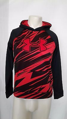 Under Armour Blue Youth L YLG Storm Red & Black Hoodie Sweatshirt Large