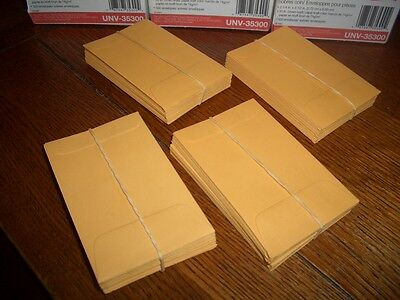 "100 Kraft #1 Coin Envelopes   2.25"" X  3.5""  Usps Tracking   + 2 Bubble Mailers"