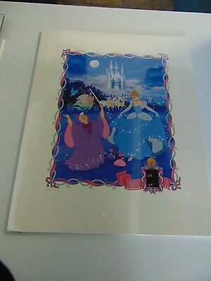 Cinderella  Disney Lithograph 35Mm Film Cell Print #2068/2500 Gm788