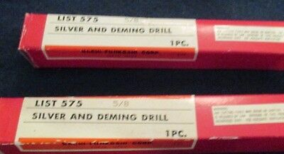 2 New High Speed Steel Nachi Silver & Demming Drill Bits List 575