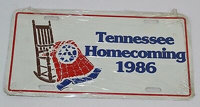 Vintage 1986 State of TENNESSEE HOMECOMING 86 Metal License Plate Auto Tag