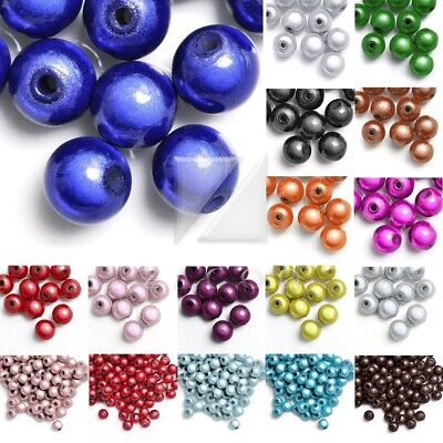 10/20/40/80/120pcs Illusion Miracle Beads Acrylic Round 4/6/8/10/12mm 18 Colours