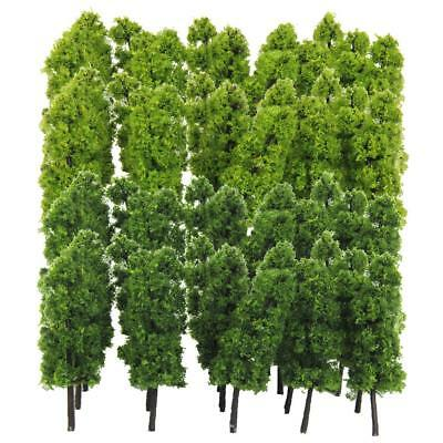 40pcs 1:150 Model 7.7cm/3'' Trees Architecture Buildings Street Greenery