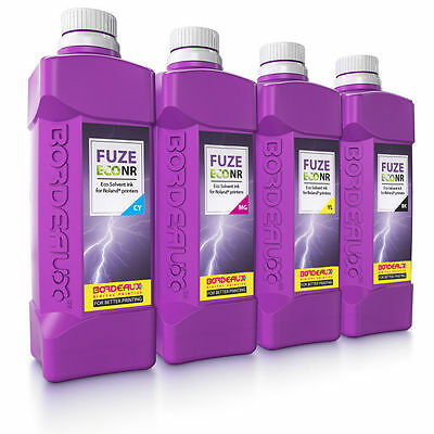 Qty 4 Bordeaux Eco Solvent Ink 1L Mutoh Valuejet Eco Ultra 1204,1324,1604,1624