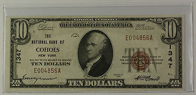 1929 Type 1 $10 Dollar National Currency Banknote Cohoes New York Charter # 1347