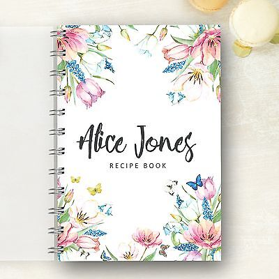 Personalised Recipe Book Spring Lovely Mothers Day Present for any food lover.