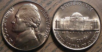 1950-P Choice / Gem Brilliant Uncirculated Jefferson Nickel Well Struck w Luster