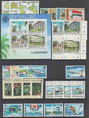 Seychelles Sc 487//554 MNH. 1982-1984 issues, 8 complete sets, VF