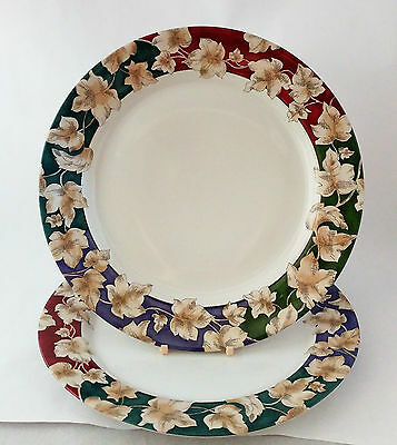 "International Tableworks Nature Study 165 Pair of 10 3/4"" Dinner Plates"