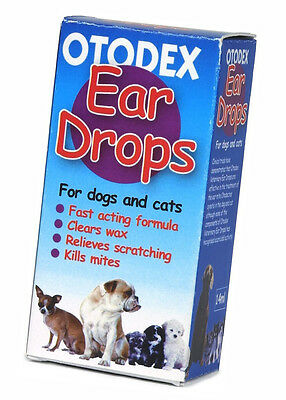 Otodex Veterinary Ear Drops for Pet Fast, Acting Formula Clear Wax 14 ml Petlife