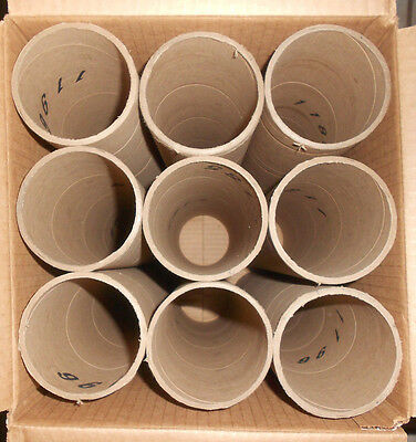 "3 Inch  x 18 3/4"" Cardboard  Heavy Duty Mailing Tubes  Box  of 9 Tubes NO CAPS!"