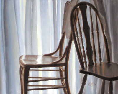 DANFORTH SALE Chairs By The Window 8x10 still life realism oil painting