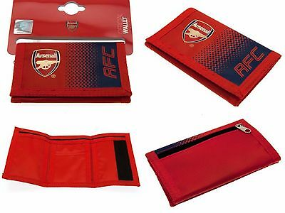 Arsenal Fc Official Nylon Club Crested Fc Money Wallet Cash & Credit Card Afc