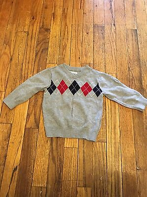 The Children's Place size 18-24 mos Gray Argyle sweater