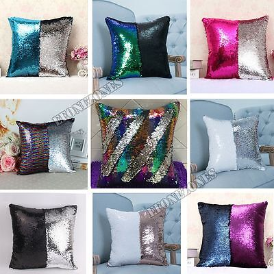 Home, Furniture & DIY Glitter 16 Magic Mermaid Pillow Case Reversible Sequin Sofa Cushion Cover Touch Home Decor