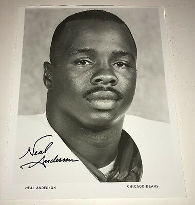 NEAL ANDERSON #35 Chicago Bears Signed 8x10 Authentic Autograph Photo w COA