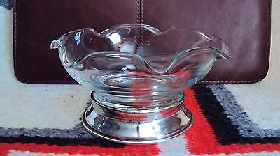 WALLACE Crystal Candy Dish/ Sterling Base