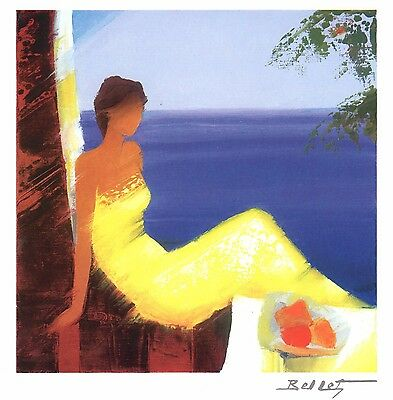 "Emile Bellet ""beaute Marine"" Seriolithograph~Free Shipping"