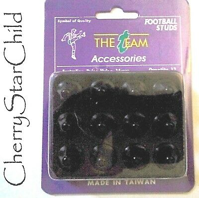 12 x high quality Nylon screw in football soccer studs 16mm black in box