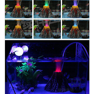 Volcano Shape Air Bubble Stone Oxygen Pump Aquarium Fish Tank Ornament Decor