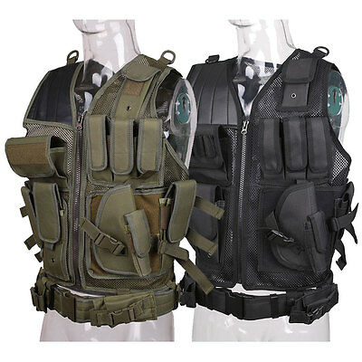 Tactical Military Combat Vest Paintball Airsoft Molle CS Assault Training Swat