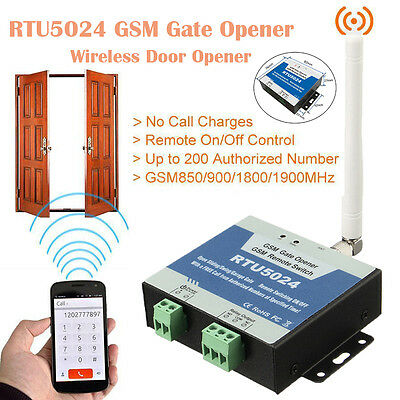 RTU5024 GSM Gate Opener Free Call Wireless Door Access Remote Control By Phone