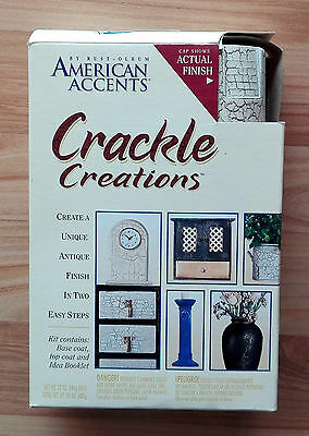 American Accents Crackle Creations Decorative Paint Kit Base / Top Coat - NEW
