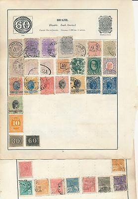 Brazil stamp collection on 2 album pages early lot