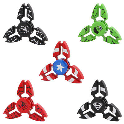 Metal Tri Fidget Hand Finger Spinner 3D Stress Reliever Toy For Adult Kids ADHD
