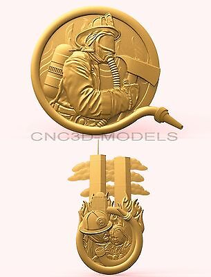 3D Model STL for CNC Router Engraver Carving Artcam Aspire Firefighter 1919