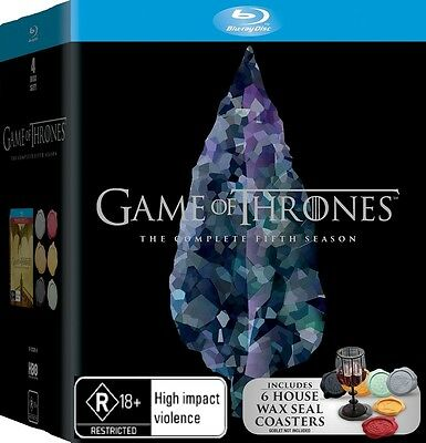 Game Of Thrones Season 5 - Wax Seals - Blu Ray New / Sealed (Box D53)