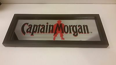 "Captain Morgan Rum Bar Wall MIRROR Sign 18"" x 7 3/4""  MAN CAVE"