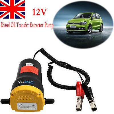 12V Diesel Oil Fluid Transfer Extractor Pump Electric Suction for Car Boat UK