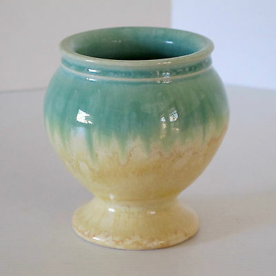 Bakewells Newtone Art Ware Goblet Vase in Polychrome Glaze on Cream Clay c.1930s