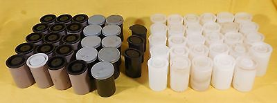 Lot of 54+ Plastic 35mm Film Canisters Mixed