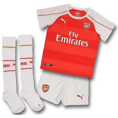 Arsenal 2015 - 2016 Mini Home Kit-  Infants kit - Child kit - by Puma - BNWT